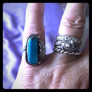 Vintage Turquoise & Sterling Ring